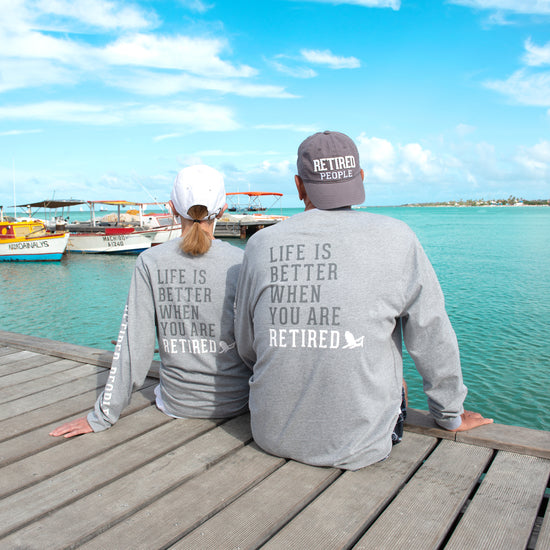 Retired People - Heather Gray Unisex Long Sleeve T-Shirt