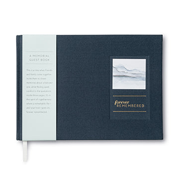 Forever Remembered - A Hardcover Memorial Guest Book