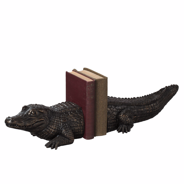 Alligator Bookend Set - 25-3/8-in - Mellow Monkey