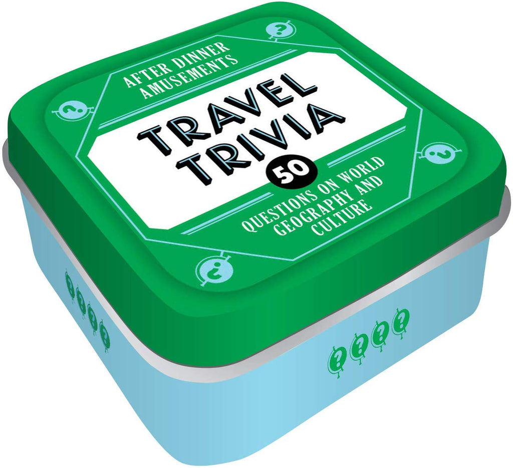 Travel Trivia - 50 Questions on World Geography and Culture - Card Game