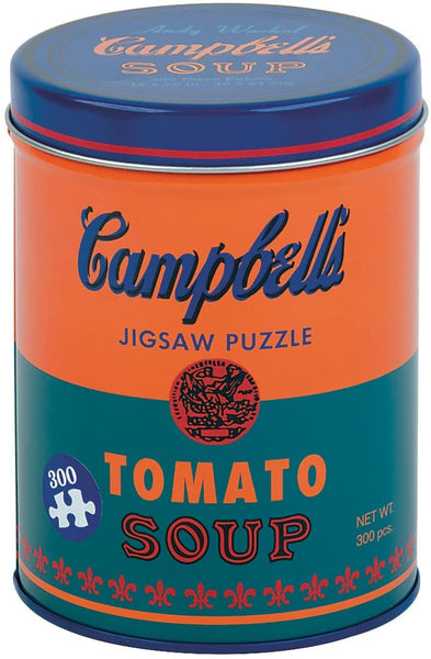 Galison Mudpuppy Andy Warhol Soup Can Orange Jigsaw Puzzle (300 Piece) Packaged in Soup Can Metal Can