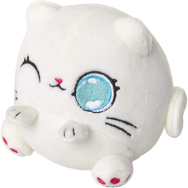 Kitten Catfé Meowble Scented Round Kitten Ball Plush - 4-in - White