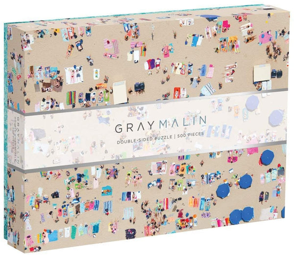 "Galison Gray Malin Double-Sided Jigsaw Puzzle, The Beach, 500 Pieces - 24"" x 18"""