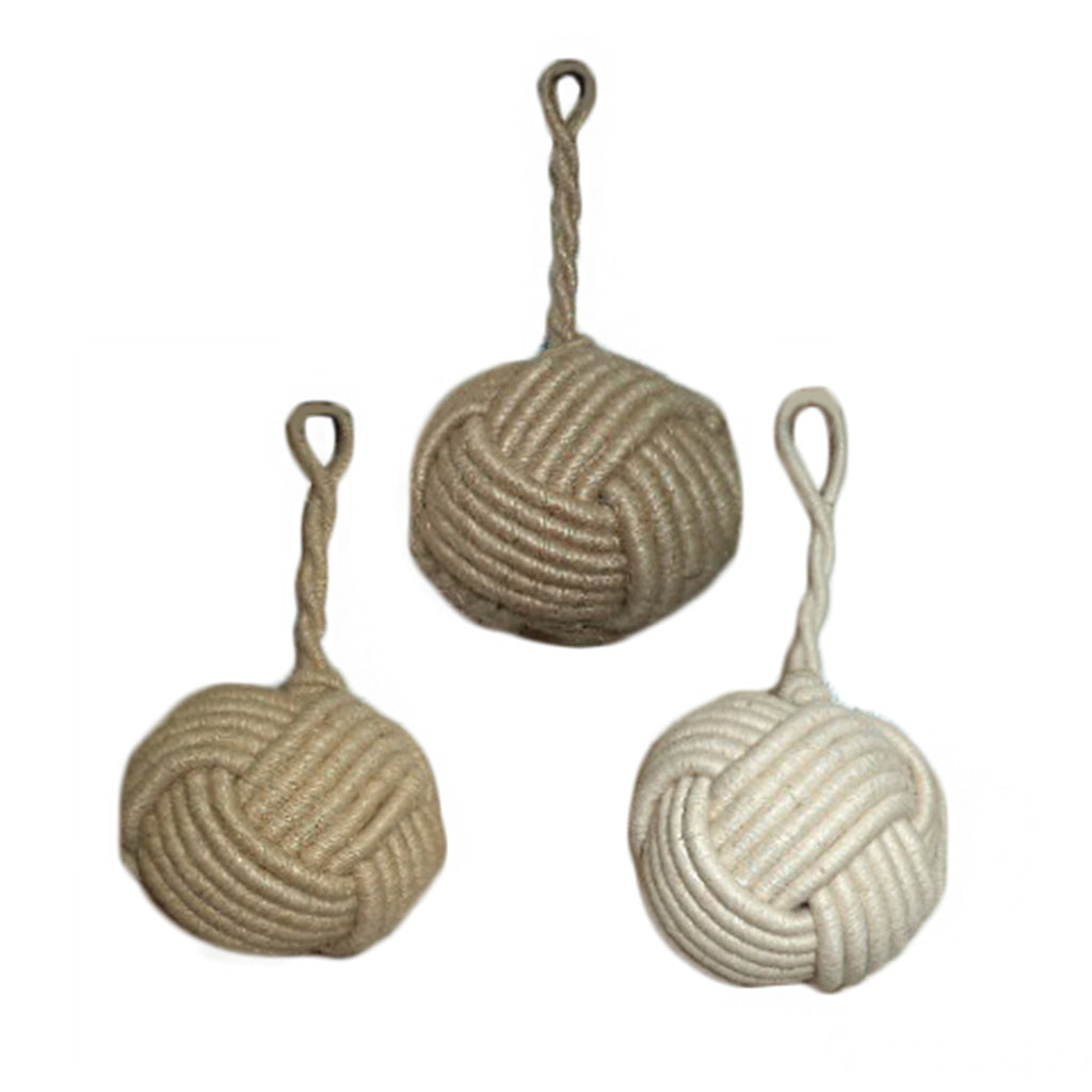 Monkey Knot Ornaments Set of 3