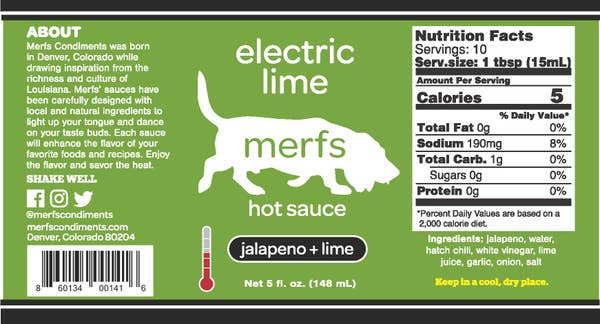 Merfs - Electric Lime Hot Sauce