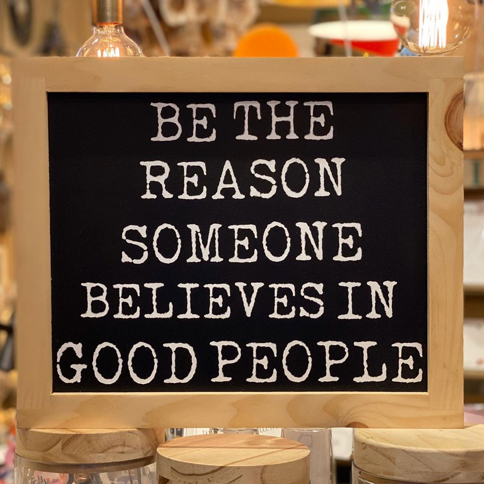 Be The Reason Someone Believes In Good People - Framed Wall Decor - Natural - 17-in