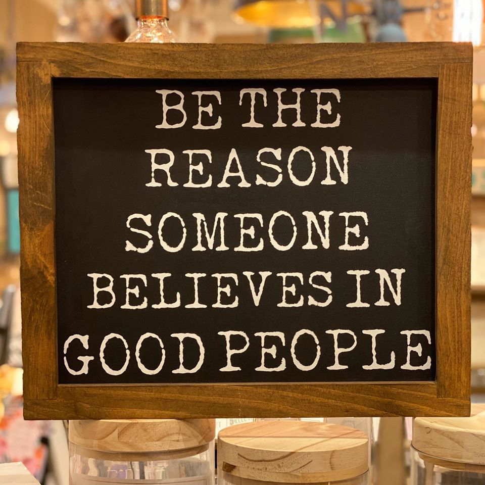 Be The Reason Someone Believes In Good People - Framed Wall Decor - Dark Walnut - 17-in