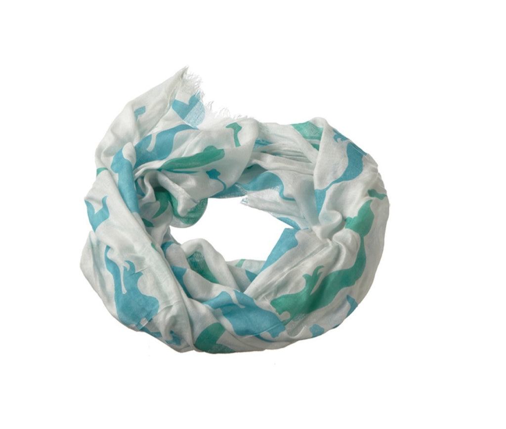 Stella Swimming Mermaid Viscose Scarf