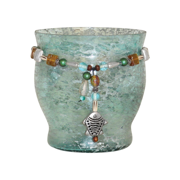 Pasha Adorned Pillar Candle Holder