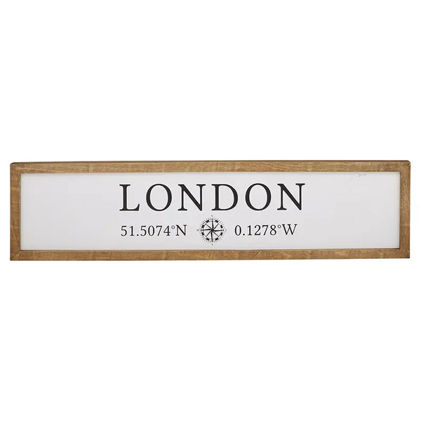 London - Decorative Wood Frame Wall Sign