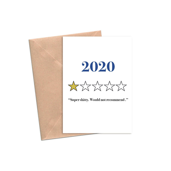 2020 One Star Review - Super Shitty, Would Not Recommend - Greeting Card