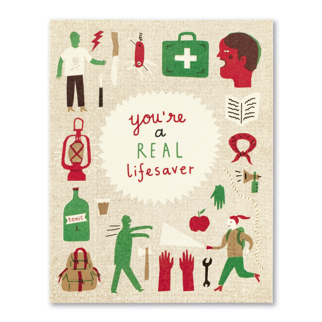 Love Muchly Greeting Card - Thank You - You're A Real Lifesaver