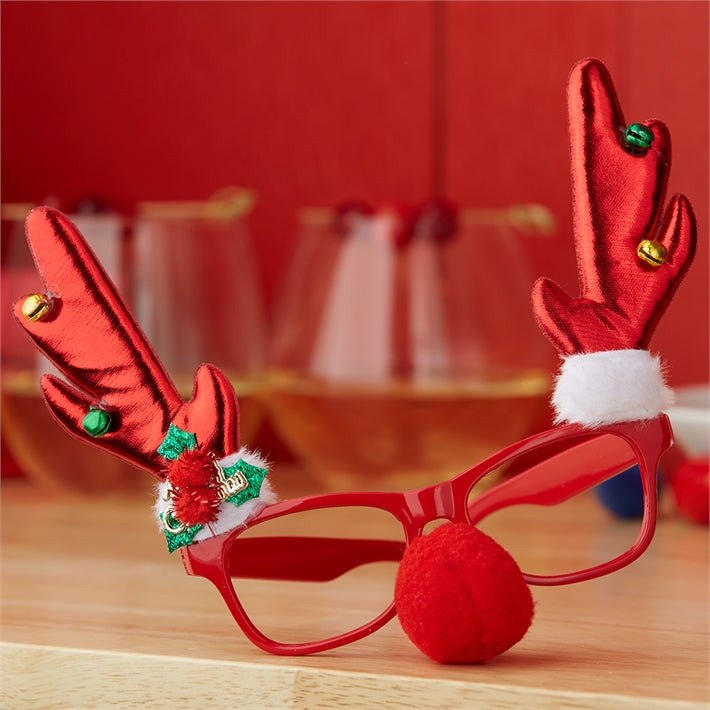 Pretty Ugly Reindeer Glasses on Gift Card