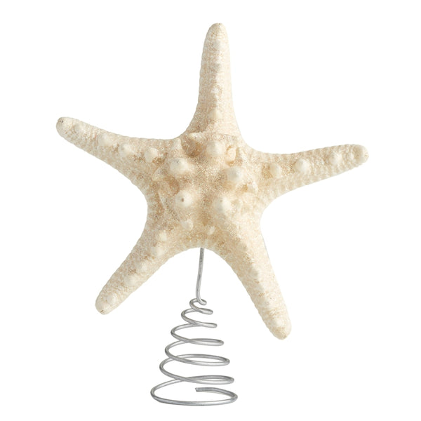 Glitter Resin Starfish Tree Topper - 6in