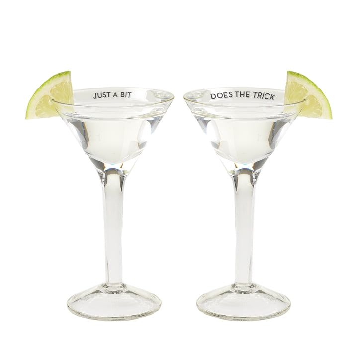 Teeny Martini Shot Glasses - Set of 2