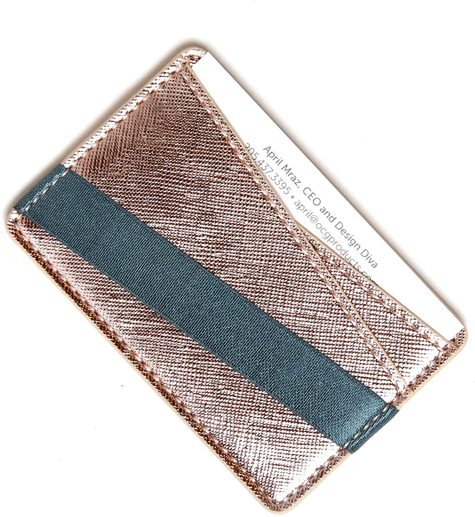 Tech Candy to Have & to Hold Phone Wallet - Rose Gold/Navy