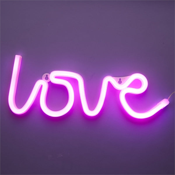 LOVE Neon Sign Decor 13-3/4-in