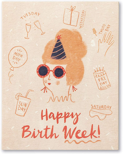 Love Muchly Greeting Card - Birthday - Happy Birth Week!