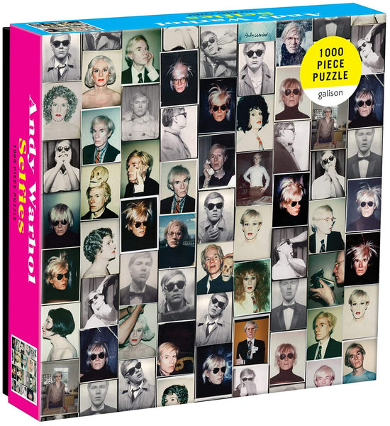 "Galison Andy Warhol Selfies Puzzle - 1,000 Pieces - 20"" x 27''"