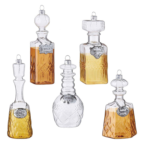 Assorted Decanter Glass Ornaments - 5.5""