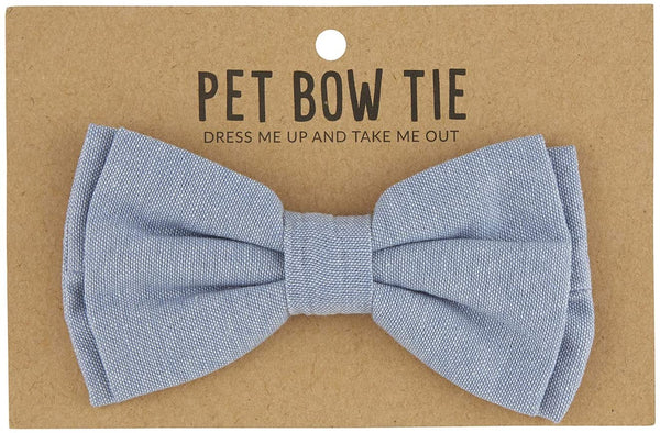 Adjustable Pet Bow Tie - Chambray
