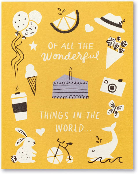 Love Muchly Greeting Card - Birthday - Of All The Wonderful Things In This World
