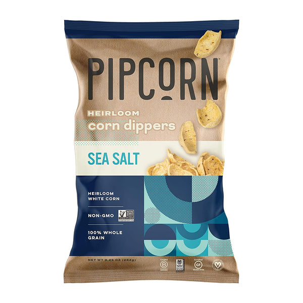 Pipcorn Heirloom Corn Dippers Sea Salt - 9-1/4-oz.