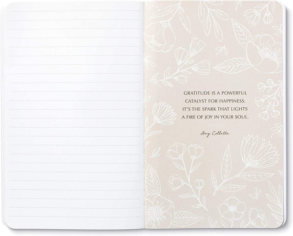 "Write Now Journal: ""My heart gives thanks"" - William S. Braithwaite - Softcover with periodic typeset quotations, 128 lined pages"