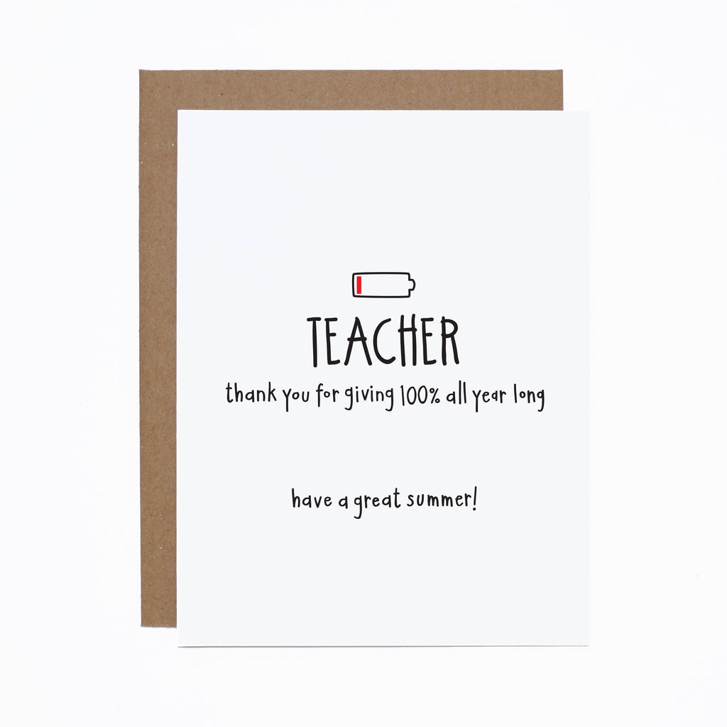 Teacher Battery Card