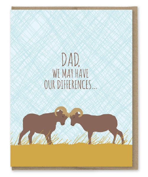 Dad, We May Have Our Differences - Rams Father's Day Card