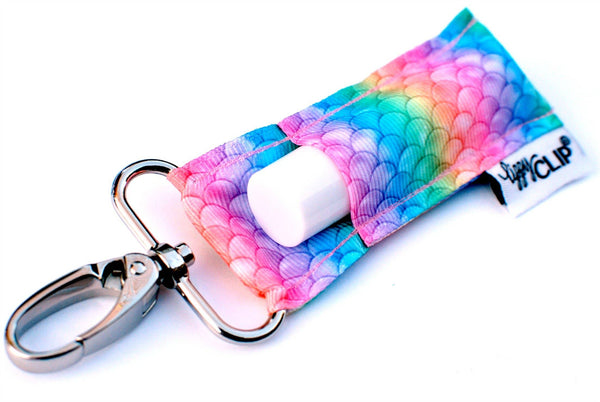 Ombre Mermaid Scales LippyClip Lip Balm Holder