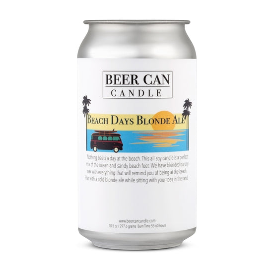 Beer Can Candle - Beach Days Blonde Ale - 100% Soy Wax Small Batch