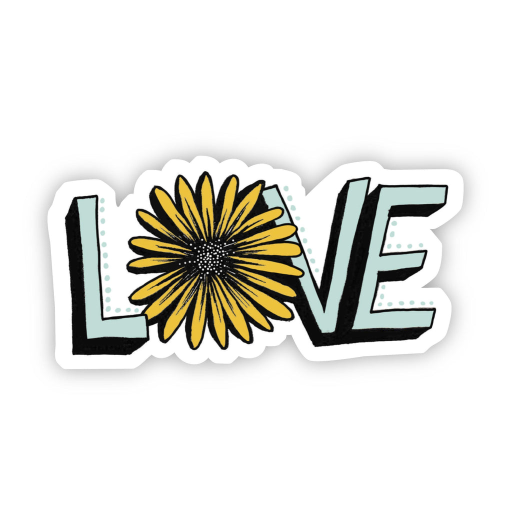 Love with Sunflower - Vinyl Decal Sticker