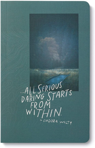 "Write Now Journal: ""…all serious daring starts from within"" - Softcover with periodic typeset quotations, 128 lined pages"