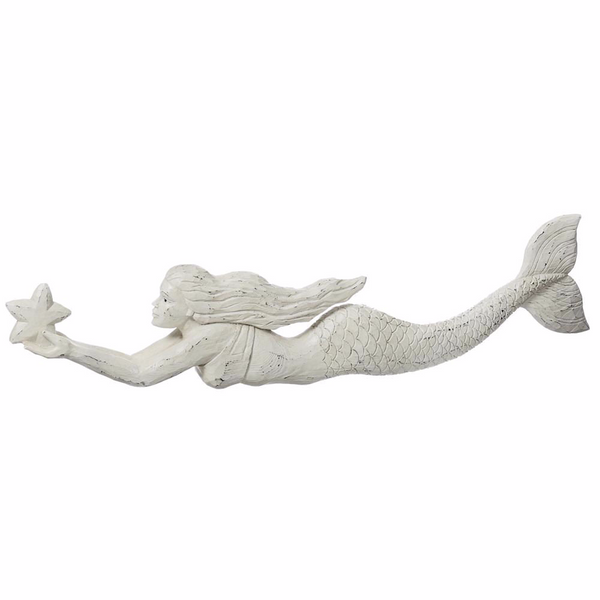 Swimming Mermaid with Star Wall Decor - 24-in - Mellow Monkey