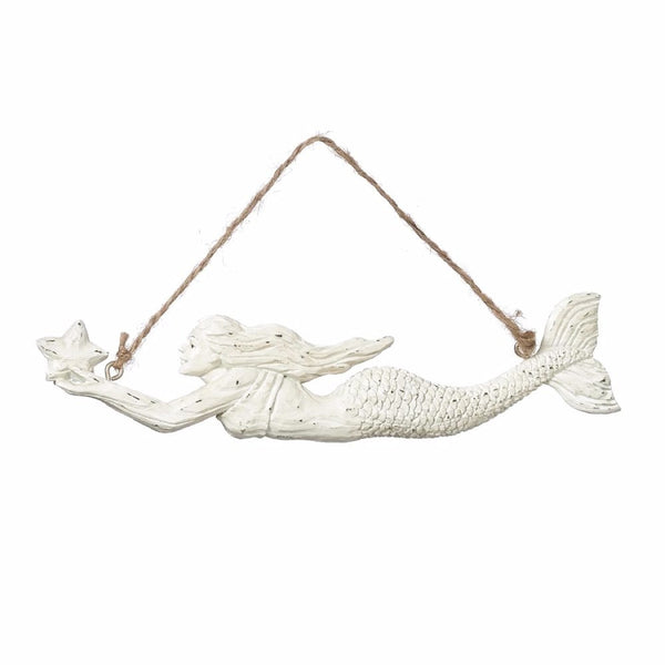 Swimming Mermaid with Sea Star Coastal Holiday Ornament - Mellow Monkey  - 1
