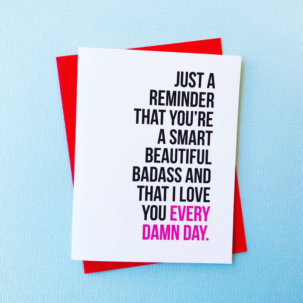 Smart Beautiful Badass Card