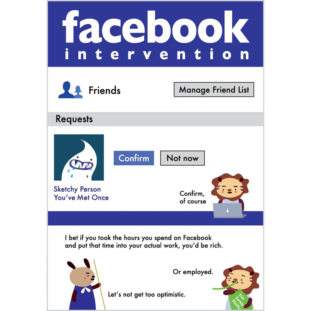 Facebook Intervention Birthday Card