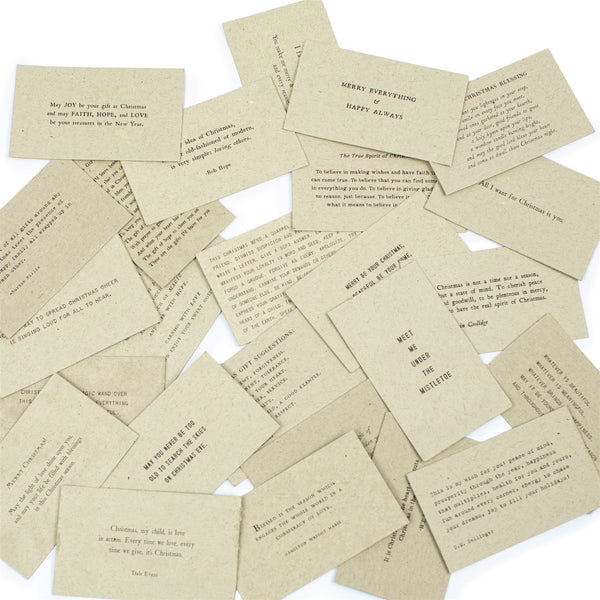 HOLIDAY Gathered Truths - Paper Filled Thoughtful Quotes Individual