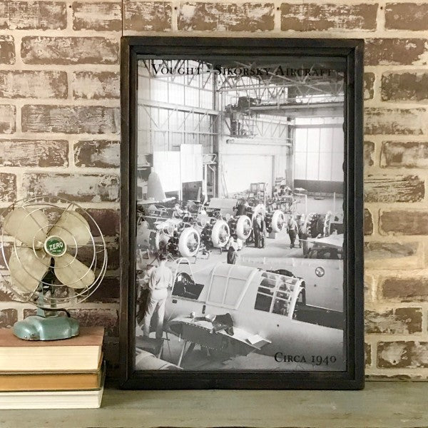 Vought-Sikorsky Aircraft Reproduction Photo in Framed Shadowbox 26-3/4-in #2