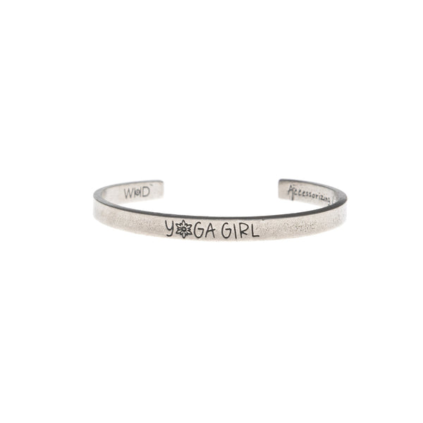 Yoga Girl Quotable Cuff Bracelet