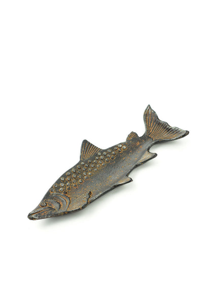 Cast Iron Fish Tray Rust Finish 9-1/4-in