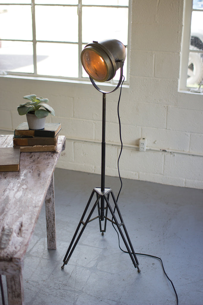 Brass Finish Studio Floor Lamp | 42-1/2-in