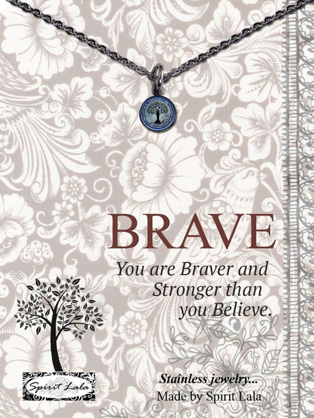 Inspirational Mini Charm Necklace with 18-in Stainless Chain