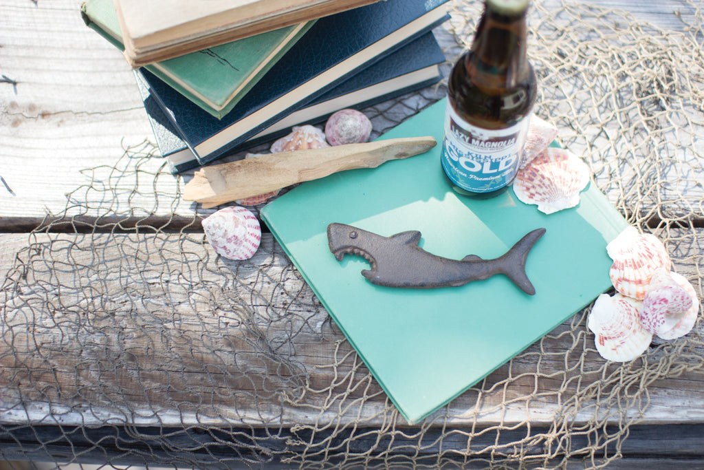 Cast Iron Shark Bottle Opener | 6-1/2-in