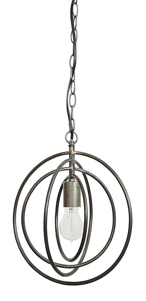Three Dimensional Metal Spherical Pendant Lamp | 12-3/8-in