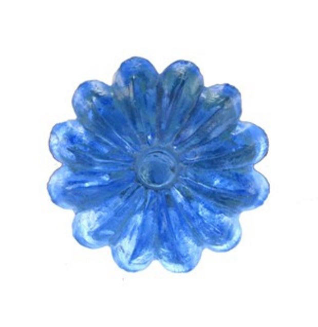 Blue Cornflower Glass Drawer Dresser Cabinet Cupboard Pull Knob - 1.438-in - Mellow Monkey