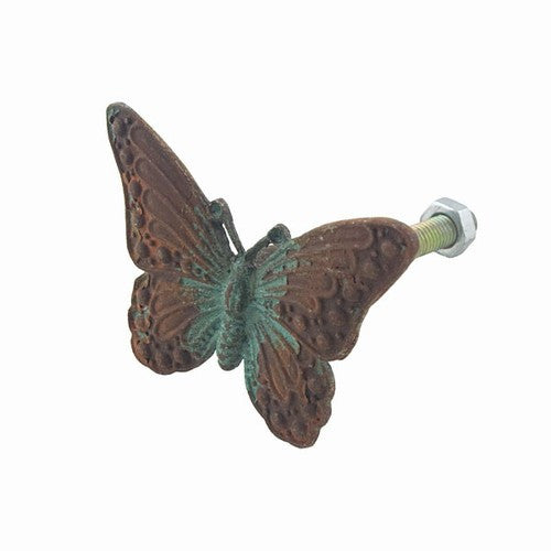 Vintage Pewter Butterfly Rust and Verdigris Finish 2-in