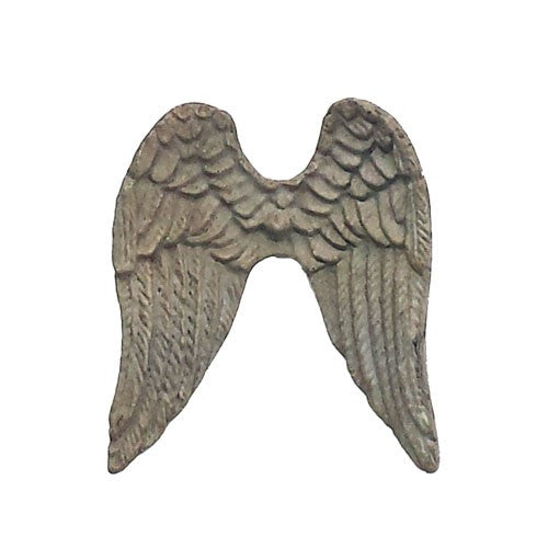 Vintage Angel WIngs Cabinet Drawer Knob Pull Iron Natural Gray Finish 2-3/4-in