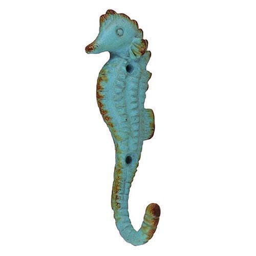 Seahorse Wall Hook Antique Turquoise